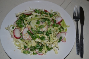 Crunchy veg slaw