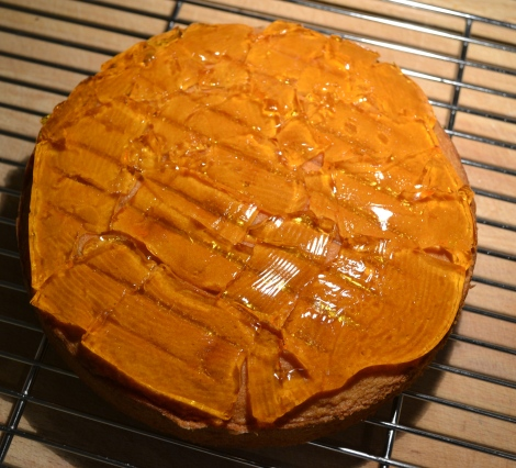 Giant Jaffa Cake - jelly layer