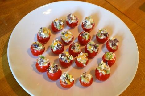 Mini Greek Salad Tomatoes