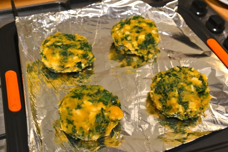 Sweet Potato & Kale Cakes