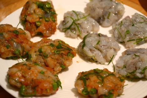 Thai prawn cakes