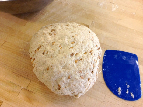 After resting and it's second 4 minute knead