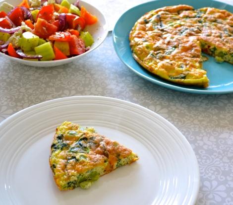 Broad Bean & Spinach Frittata