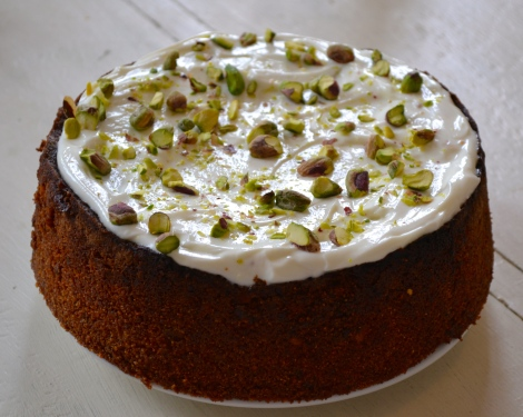 Pistachio Yoghurt & Elderflower Cake