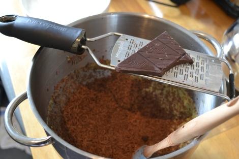 Grated Chocolate & Almond Cake