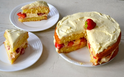 Lemon & Strawberry Victoria Sponge