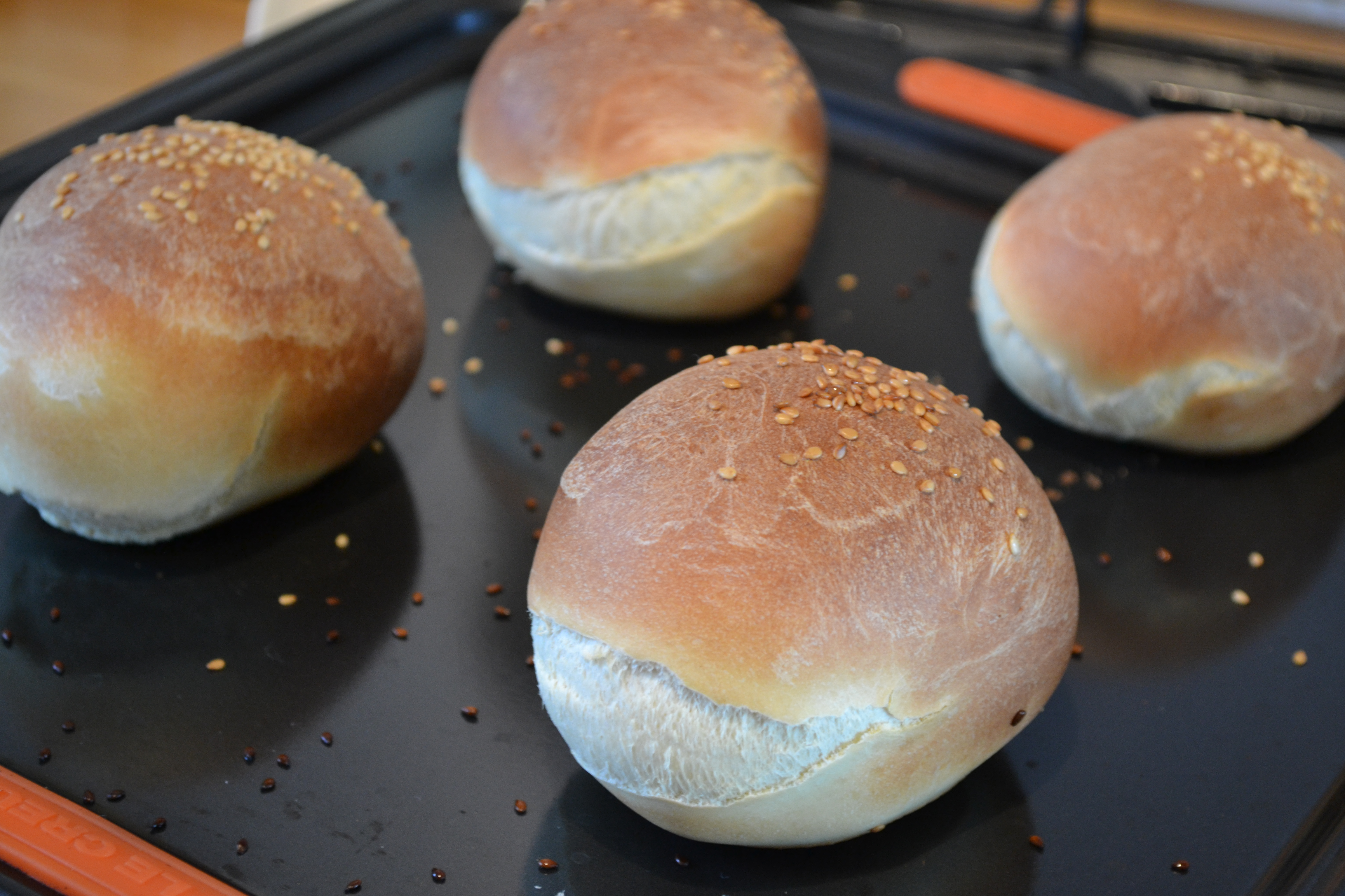 Light Brioche Burger Buns | The Perky Pancake