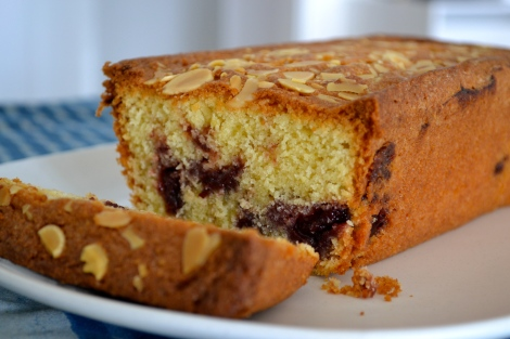Marbled Almond & Cherry Cake