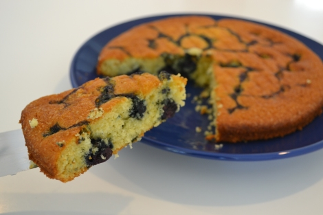 Lemon & Blueberry Yoghurt Cake