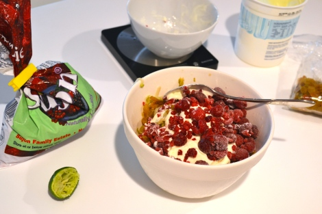 Pear & Raspberry Bircher Muesli