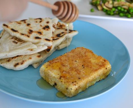 Feta with Sesame Seeds & Honey