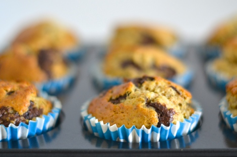 Pistachio, Chocolate Chip & Orange Muffins
