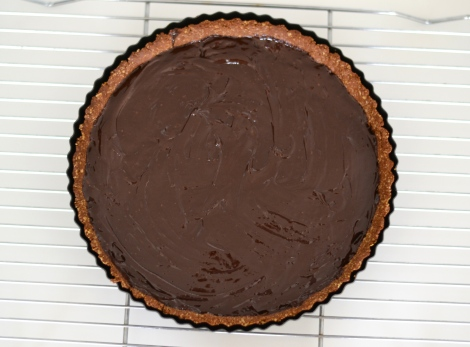 Deliciously Decadent Chocolate Tart With A Chocolate Oat Crust
